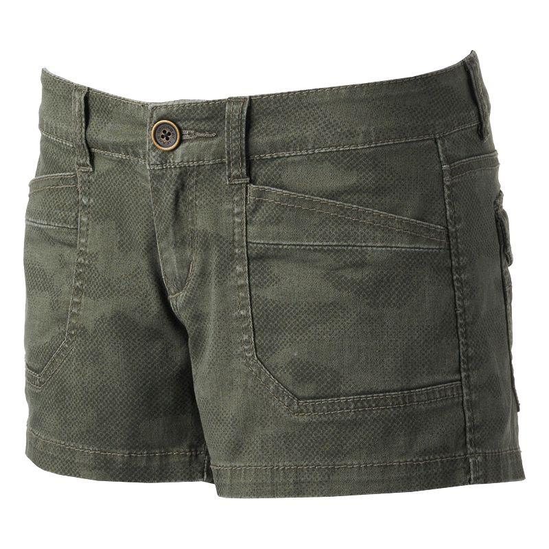 Unionbay Twill Shortie Shorts - Juniors