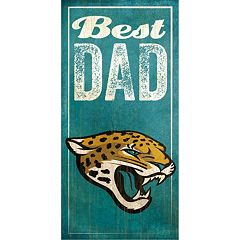 Jacksonville Jaguars Best Dad Sign
