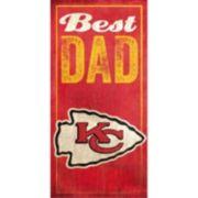Kansas City Chiefs Best Dad Sign