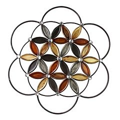 kaleidoscope flower metal wall decor - Metal Wall Decor