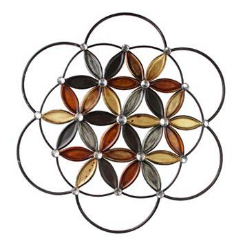 Kaleidoscope Flower Metal Wall Decor