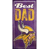 Minnesota Vikings Best Dad Sign
