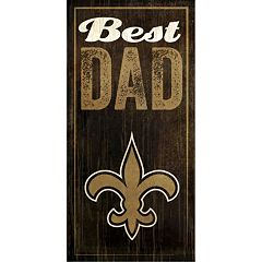 New Orleans Saints Best Dad Sign