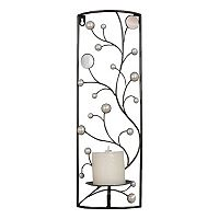 Vine Metal Candle Wall Sconce