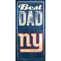New York Giants Best Dad Sign