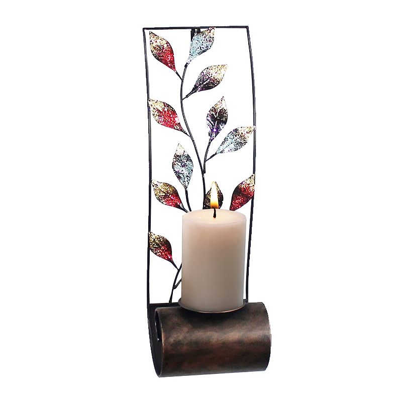 Leaves Scroll Metal Candle Wall Sconce