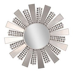 Jeweled Art Deco Sunburst Wall Mirror