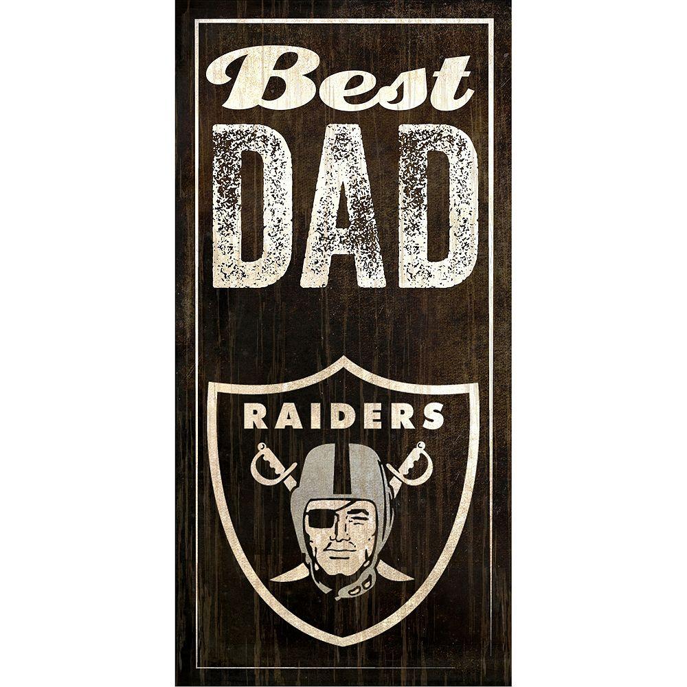 Oakland Raiders Best Dad Sign