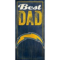 San Diego Chargers Best Dad Sign