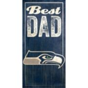 Seattle Seahawks Best Dad Sign
