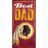 Washington Redskins Best Dad Sign