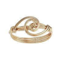 Journee Collection Gold Tone Sterling Silver Knot Ring