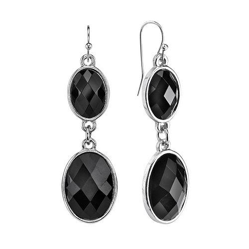 1928 Oval Drop Earrings