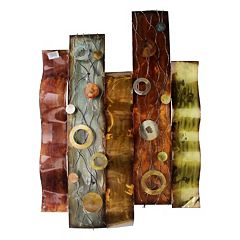 Abstract Pillar Metal Wall Decor