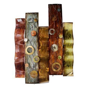 Abstract Pillar Metal Wall Decor