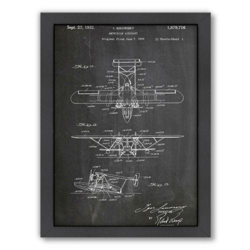 Americanflat ''Amphibian Aircraft'' Framed Wall Art
