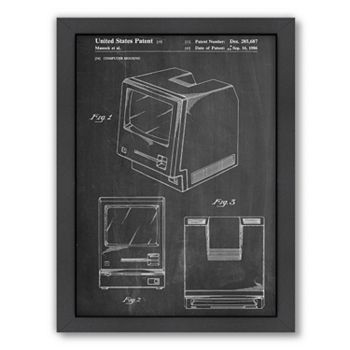 Americanflat ''Apple Computer Original'' Framed Wall Art