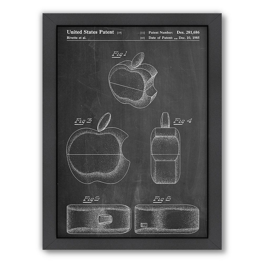 Americanflat ''Apple Logo 2'' Framed Wall Art