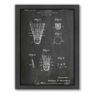 Americanflat ''Badminton Shuttle'' Framed Wall Art
