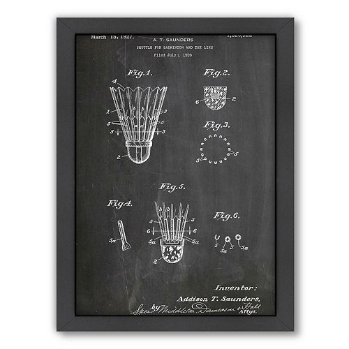 Americanflat ''Badminton Shuttle'' Framed Wall Art