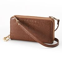 Adrienne Landau Double-Zipper Convertible Crossbody Bag