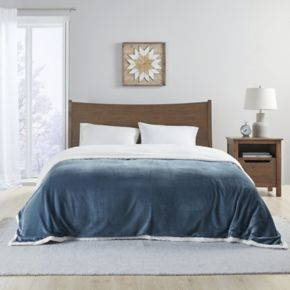 Premier Comfort Plush Microlight and Berber Blanket