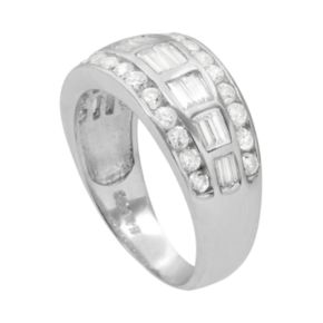Journee Collection Cubic Zirconia Sterling Silver Ring