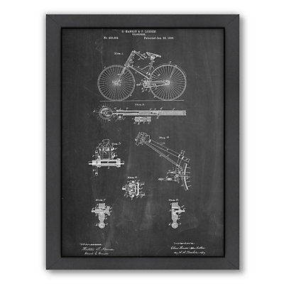 Americanflat ''Bicycle 1890'' Framed Wall Art