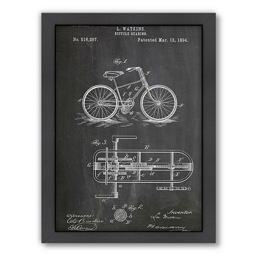 Americanflat ''Bicycle Gear'' Framed Wall Art