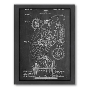 Americanflat ''Bicycle Hentz 1899'' Framed Wall Art