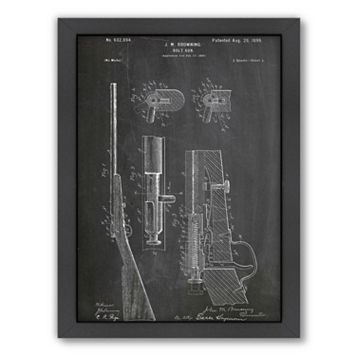 Americanflat ''Browning Bolt Gun 1899'' Framed Wall Art