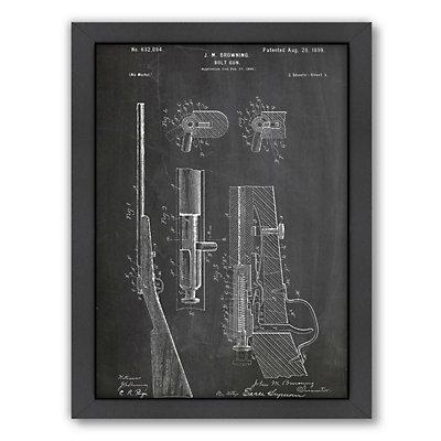 Americanflat ''Browning Bolt Gun 1899'' Framed Wall Art
