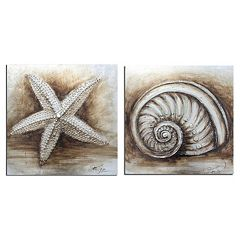 Safavieh 2-piece Shell Canvas Wall Art Set