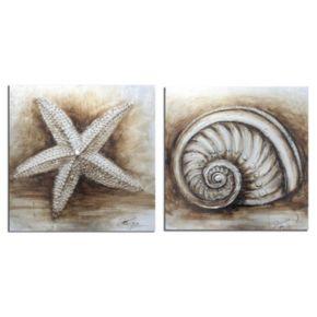 Safavieh 2-piece Shell Canvas Wall Art Set