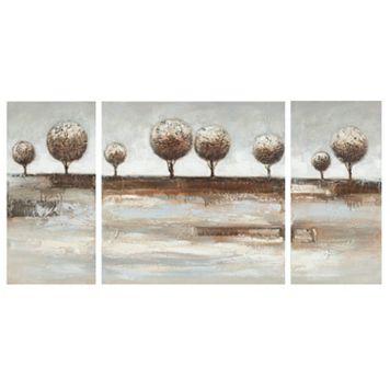 Safavieh 3-piece Tree Landscape Canvas Wall Art Set