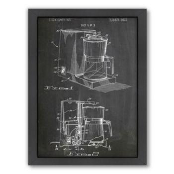Americanflat ''Coffee Maker 1975'' Framed Wall Art