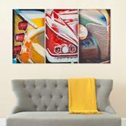 Safavieh 3 pc Auto Legends Triptych Wall Art Set