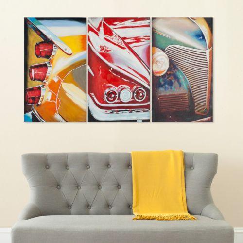 Safavieh 3-piece Auto Legends Triptych Wall Art Set