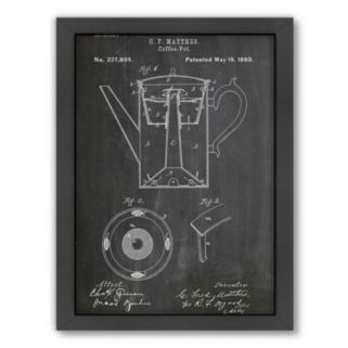 Americanflat ''Coffee Pot C.F. Mathers'' Framed Wall Art