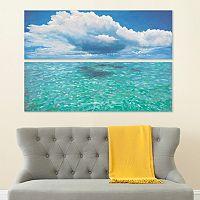 Safavieh 2 pc ''Caribbean Sea'' Diptych Canvas Wall Art Set