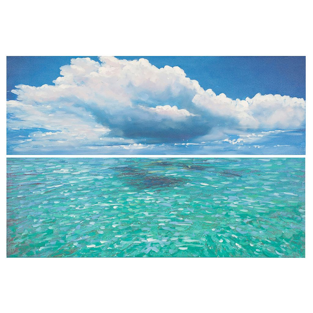 Safavieh 2-piece ''Caribbean Sea'' Diptych Canvas Wall Art Set