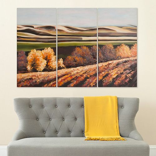 Safavieh 3-piece ''Harvest Dreams'' Triptych Canvas Wall Art Set