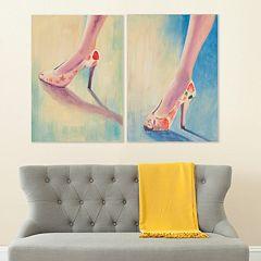 Safavieh 2-piece ''Summer Shoes'' Diptych Canvas Wall Art Set