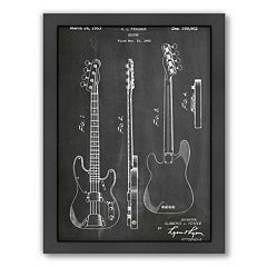 Americanflat ''Fender Bass Guitar'' Framed Wall Art