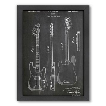 Americanflat ''Fender Bass Guitar'' Framed Wall Art