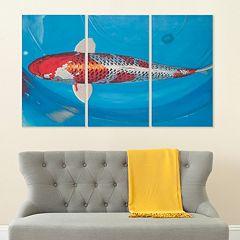 Safavieh 3-piece ''Go Fish'' Triptych Canvas Wall Art Set