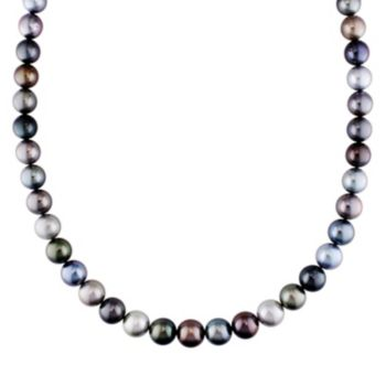 Dyed South Sea and Tahitian Cultured Pearl Necklace in 14k Gold (9-11.5 mm)