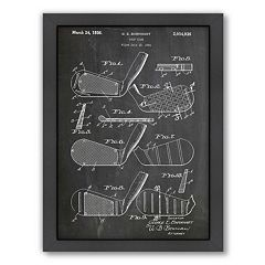 Americanflat ''Golf Clubs 1931'' Framed Wall Art
