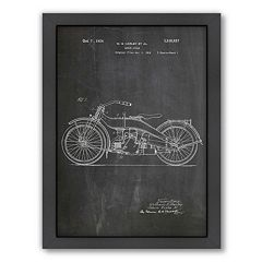 Americanflat ''Harley Motorcycle'' Framed Wall Art