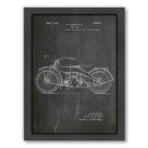 Americanflat ''Harley Motorcycle'' Framed Wall Art